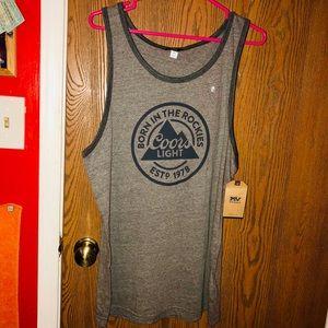 ab5d81d9b17394 MV SPORT Shirts - NWT COORS LIGHT TANK TOP MENS MEDIUM